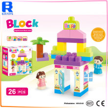 Plastic enlighten brick building toys set kid building block