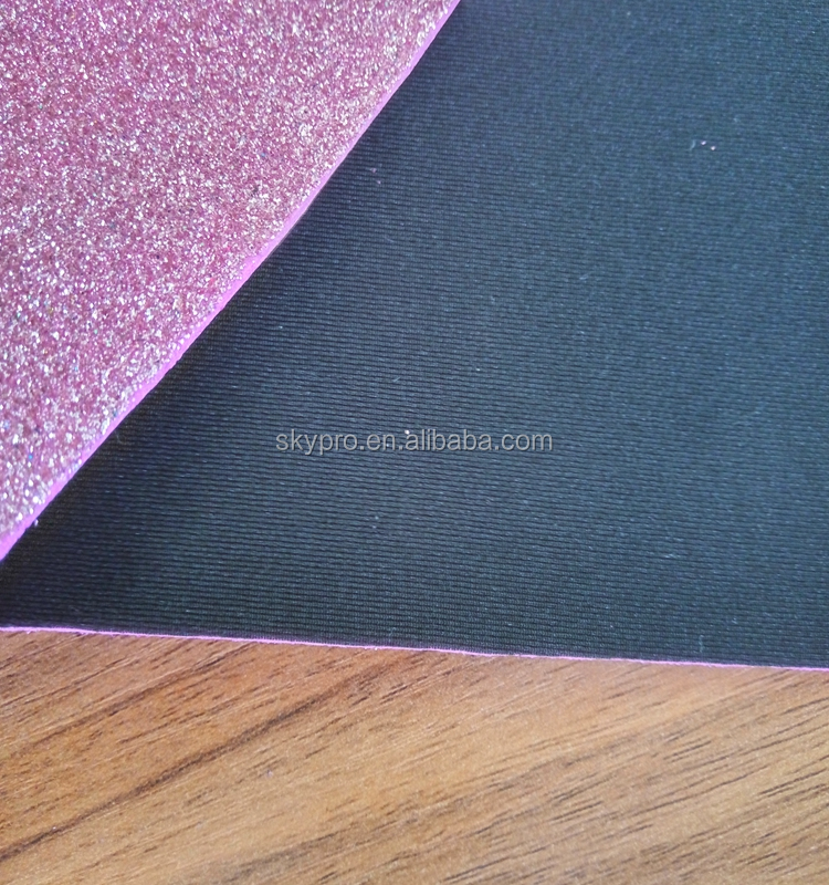 Colourful Glitter EVA Foam Using For Kids Decoration Back With Nylon Fabric