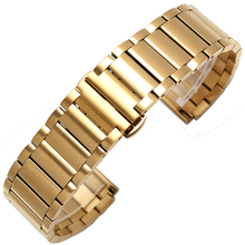 2018 Hot 22mm gold Stainless steel watchband 22mm watch band metal