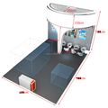 Lighting trade show booth for exhibition, portable lighting trade show display design for exhibition booth rental