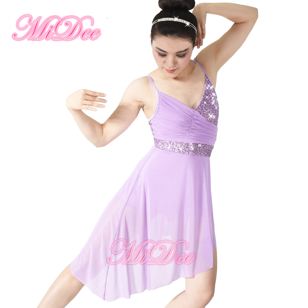 MiDee Elegant Skating Performance Costumes Lyrical Dress For Sale