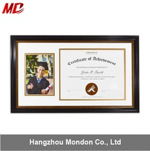 Black Gold University Graduation Portrait and Certificate&Diploma Frame for Diploma& Picture Wall display