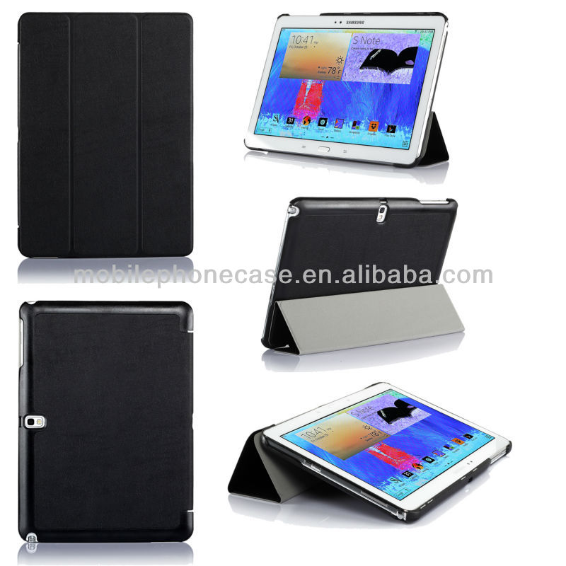 PU leather ultra-slim cover case for Samsung Galaxy Note 10.1 (2014 edition) P600