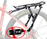 Black color bike parts carrier cargo aluminium alloy bicycle luggage carrier