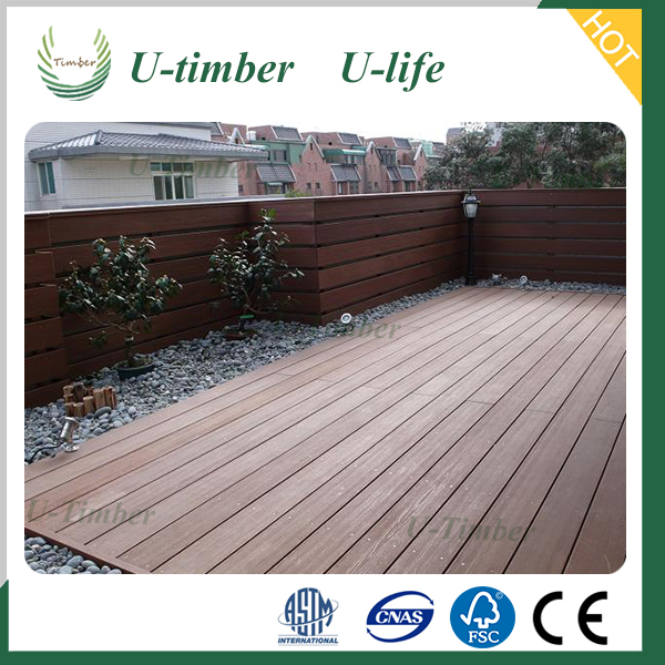 Moisture proof wpc deck floor