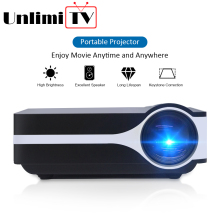 Unlimitv mini lcd home cinema projector led digital beamer