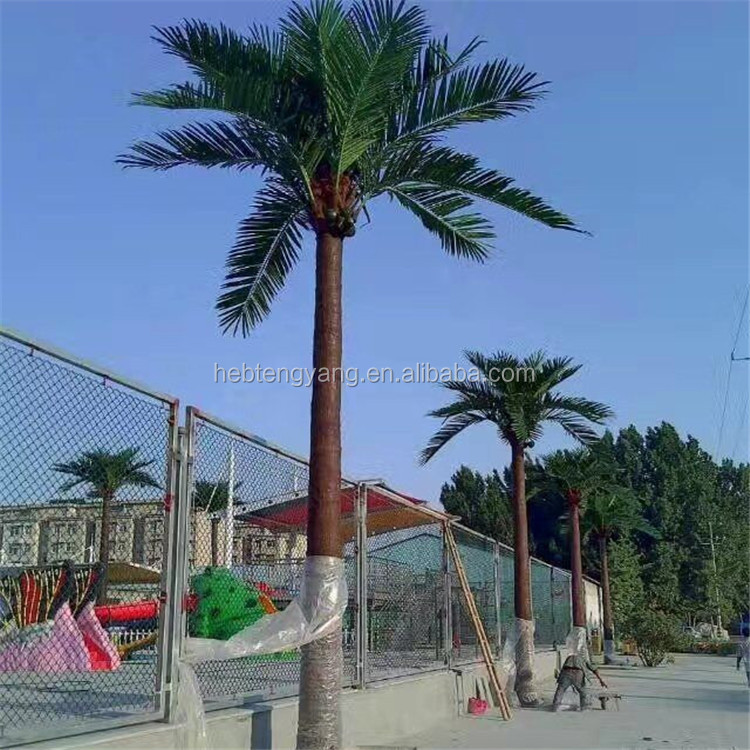 Artificial Palm Tree Leaves and Monopole Antenna Tower