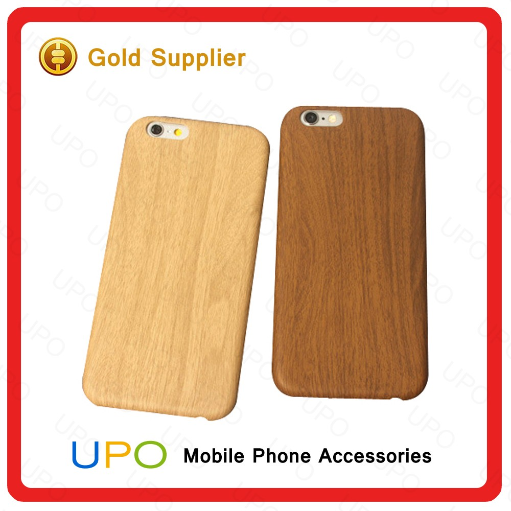[UPO] New Arrival Cases for iPhone 6 Wood Pattern Phone case PC Material Phone Back Cover for iPhone 6 Plus