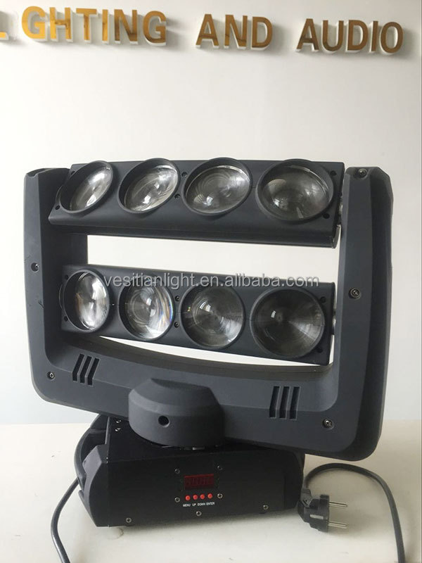 100watt 8 eyes white beam led moving head light/8x10w led spider dj light cool beam led system