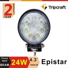 "Auto Car Accessories 24W LED Working Light For Automobiles 4"" Round LED Work Light"