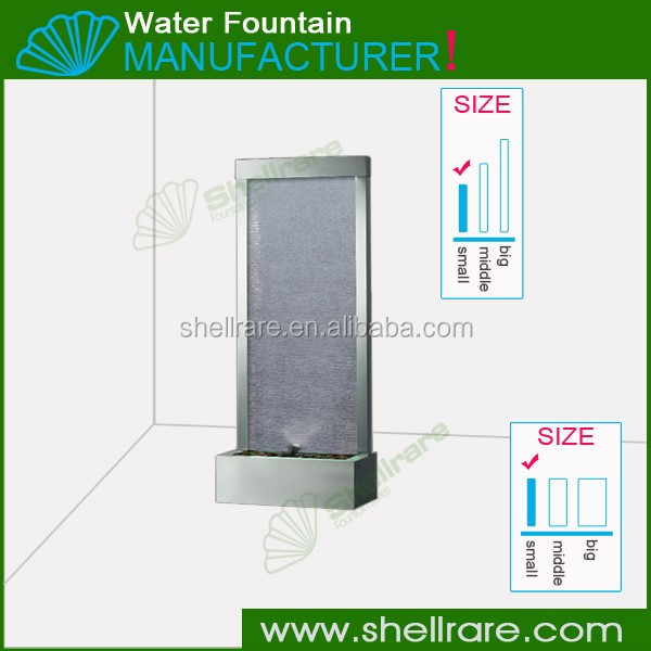 room decorative divider panels floor standing indoor waterfall fountain decorative fountain water glass