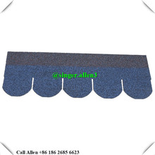 colorful cheap fish scale asphalt shingle sheet , asphalt roof tiles in China
