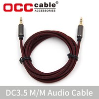 Strong braided car audio aux cable for audio speaker