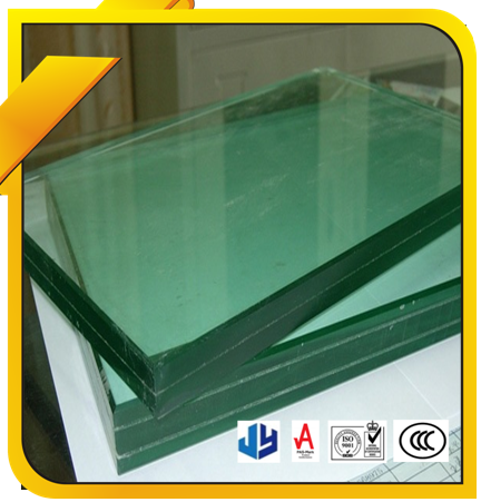 Clear or tinted tempered glass, laminated glass tempered for buildings