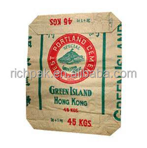 50kg cement packaging paper bags