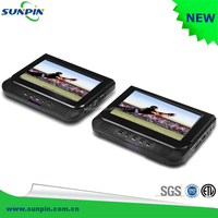 7 inch Dual Screen Car DVD Player, Portable Car Headrest Monitor Player with DVD Binders