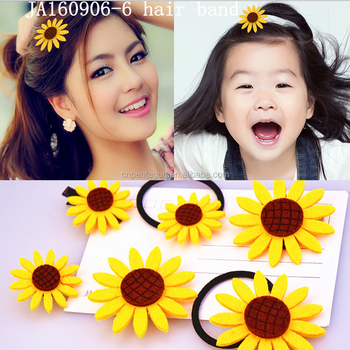2016 new design sunflower hairband / facncy elastic haiarbands