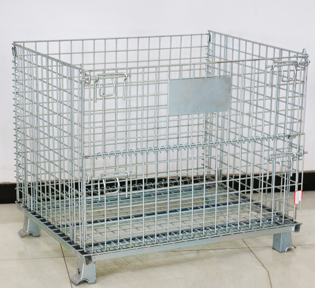 Heavy Duty Metal Storage Cages Wire mesh pallet cage metal storage cage