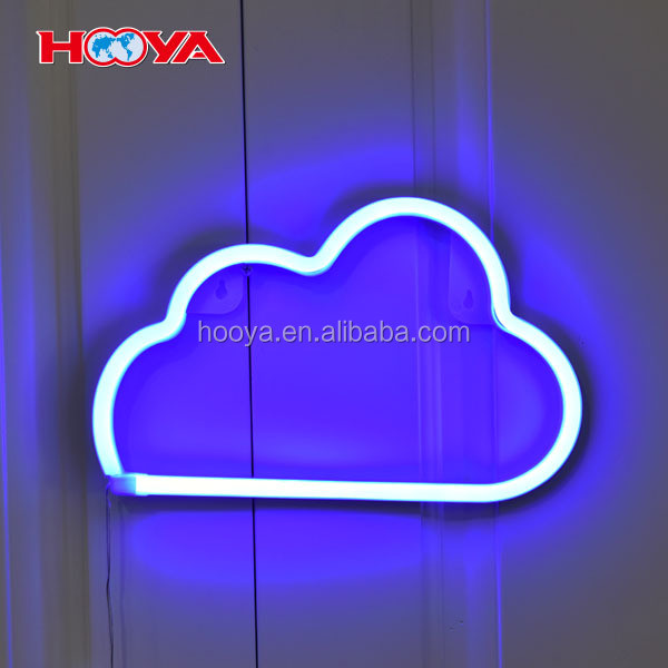 battery operated cloud shape LED night light for home decoration