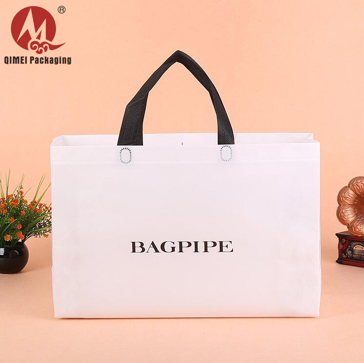 Cheap fashion recycle custom printed logo fabric gift drawstring non woven tote bag