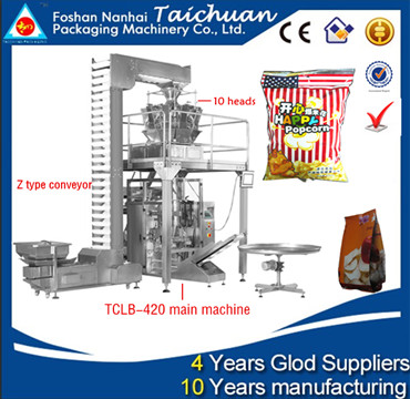Snacks packaging machine(cashew nut,Peanuts,potato chips,banana chips,candy)