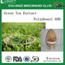 ISO Factory provide pure natural powdered form green tea extract with polyphenol 98% for loss weight