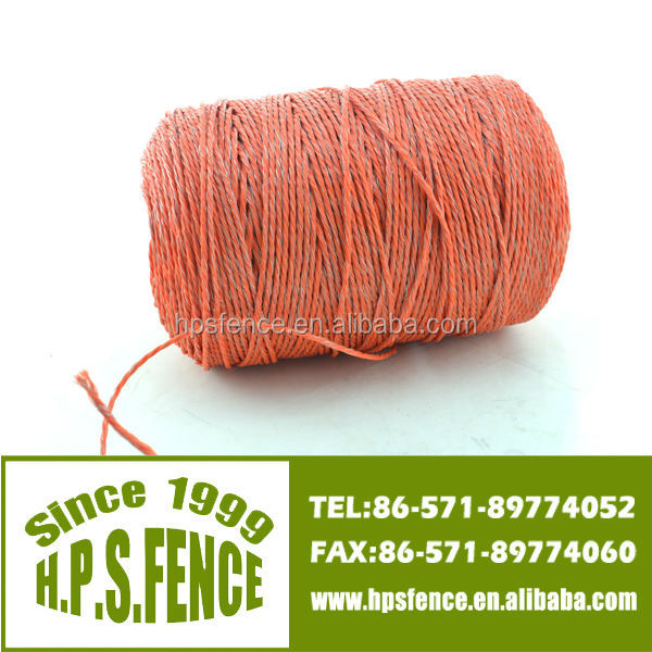 2014 Good Quality electric fence and animal farm plastic twine for fence rope
