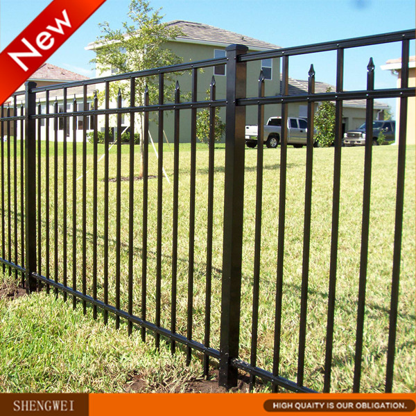 Classic 3 Rails Tubular Industrial Security Fencing