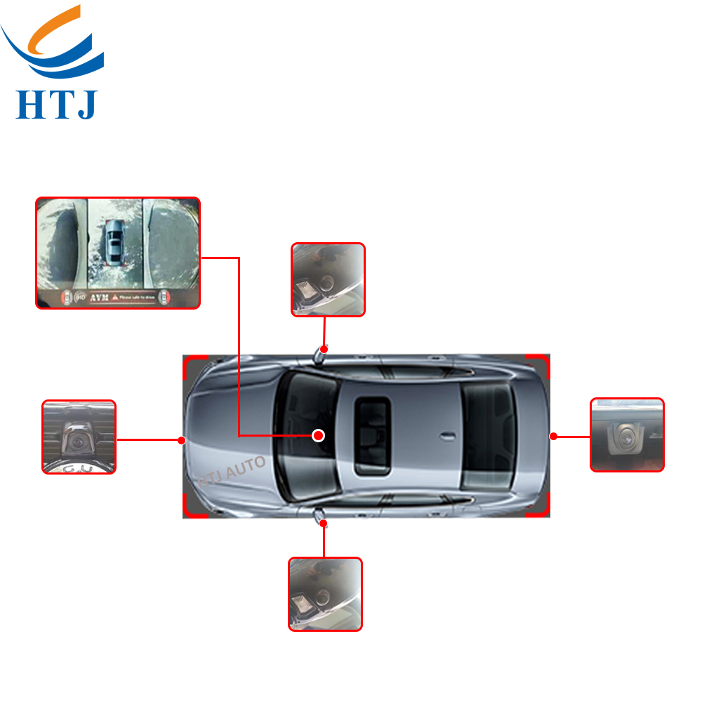 2d Hd 360 Bird View Car Camera System With Remote Control - Buy 360 ...