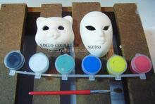 ceramic painted masks diy items with brush