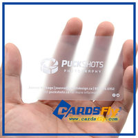 High quality clear pvc matte transparent business card