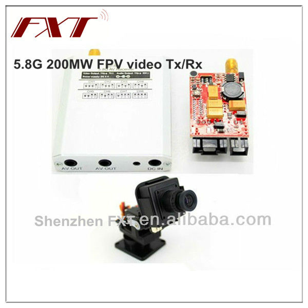 5.8G 1000MW wireless audio video transmitter receiver kit, for FPV 100cc rc model airplane