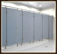 Operable Aluminum Toilet Partition in Office and Scool with Superior Durability