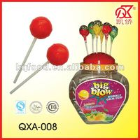 25g Halal Bubble Gum Fruit Flavored Lollipops