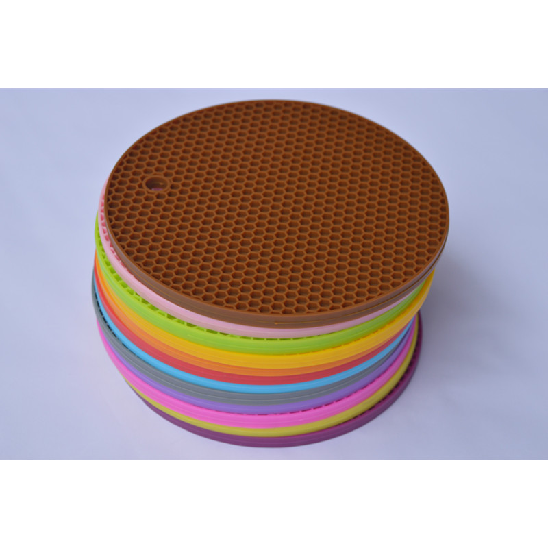 Honeycomb Shaped Silicone Induction Cooker Mat/Pad For Hot Pot/Bowl/Pan
