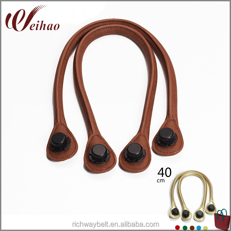 1 Pair 40cm Size Pu Leather Rope OBag Handles DIY AM Bag Handle
