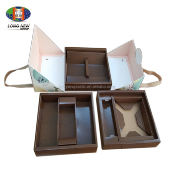 New Design Luxury Foldable Large Paper Square Cake Box