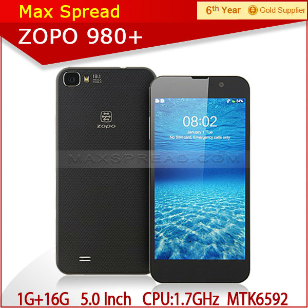 Octa Core mobile phone 5.0'' FHD 1080P ZOPO ZP980+ Android 4.2 1GB/16GB dropshipping