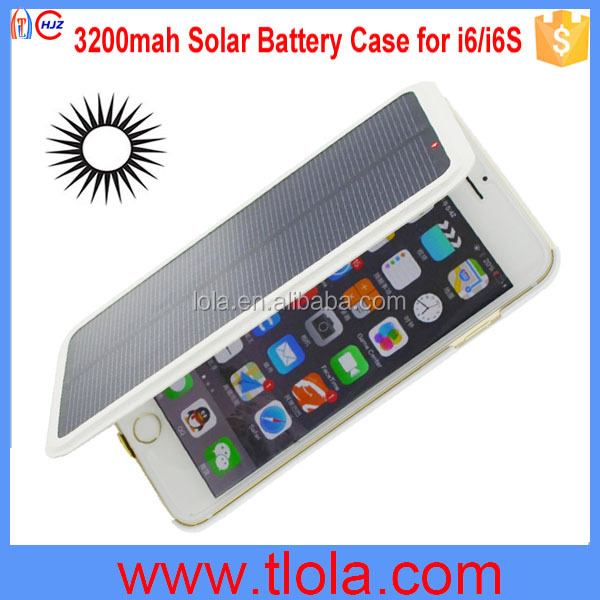 Solar Powered Cell Phone Case for iPhone 6S 4.7 inch ( for iPhone6 Optional)