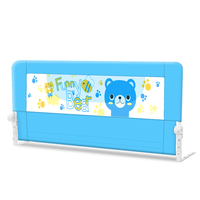 Good price kids bed guard with transparent fabric,high quality kids safety fence from china manufacturer