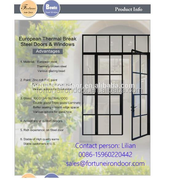 Commercial Double Steel Entry Doors Catalog For Decorative Buy