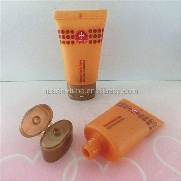 D30mm oval flip top cap with brown plastic tube pe tube