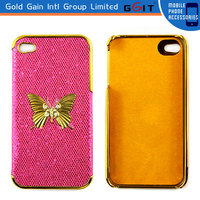 Luxury Bling Back Case Cover For iPhone 4S Hard Cover With Butterfly Design
