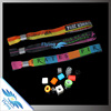 Plastic Secure Lock Promotional Event woven Bracelet Fabric