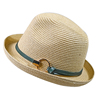 Summer Cool metal accessories natural wholesale straw cowboy hats