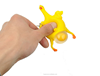 Hot Sale Popular Yellow Children Squeeze Toys Soft Chicken Lay Egg Toys Plastic Keychain Toys