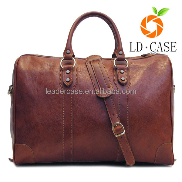 wholesale good price crazy genuinle leather men luxury duffel travel bag