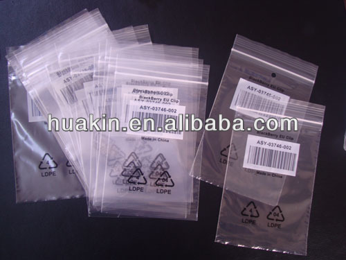 plastic ziplock bags for data cable
