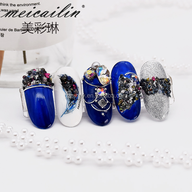 1 Pack 3D Mixed Style Irregular Nail Stone And Caviar Micro Beads and Zircon Rhinestones Nail Decoration