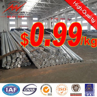 small floor area large bearing load transmission galvanized steel electrical pole